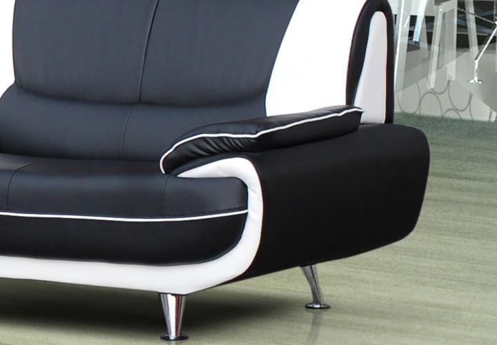 wohnzimmer sofa ebay:Sofa Couch Ecksofa Palermo Wohnzimmer Designer Eckcouch schwarz weiß