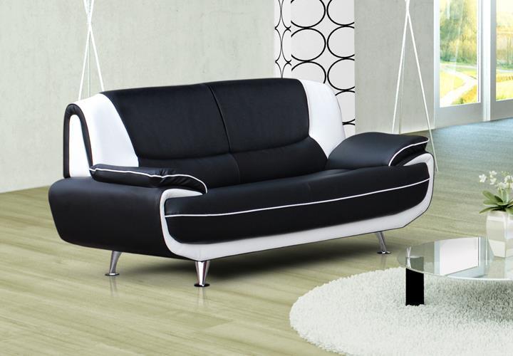 Wohnzimmer sofa schwarz  Sofa Couch Ecksofa Palermo Wohnzimmer Designer Eckcouch schwarz ...