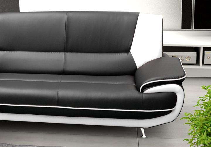 sofa couch ecksofa palermo wohnzimmer designer eckcouch schwarz - Schwarz Wei Sofa