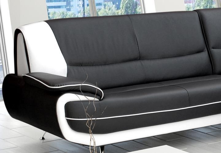 ecksofa palermo midi wohnzimmer designer sofa ecke schwarz. Black Bedroom Furniture Sets. Home Design Ideas