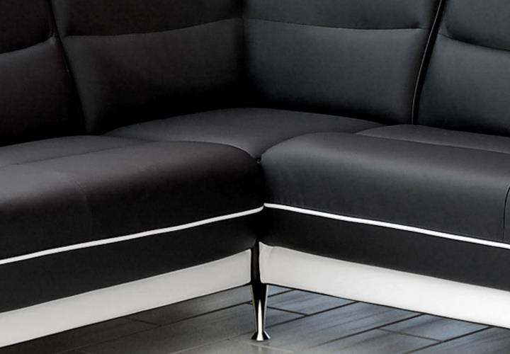Sofa Couch Ecksofa Palermo Wohnzimmer Designer Eckcouch Schwarz