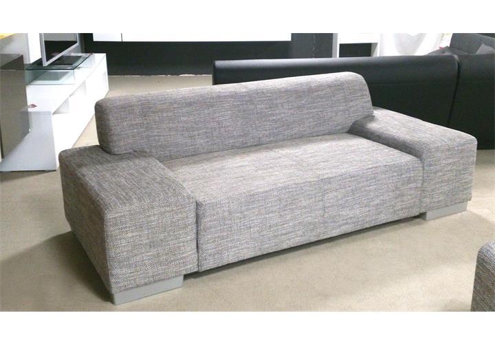 sofa peter 3 sitzer wohnzimmer couch in webstoff salz pfeffer f e in aluoptik eur 179 95. Black Bedroom Furniture Sets. Home Design Ideas