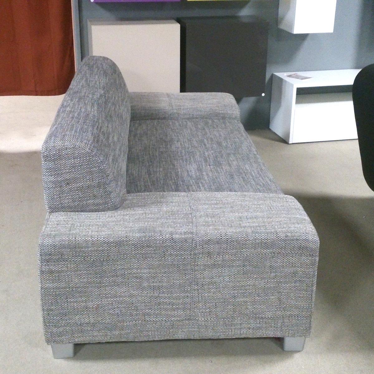 Sofa Peter 3 Sitzer Wohnzimmer Couch In Webstoff Salz Pfeffer Fusse