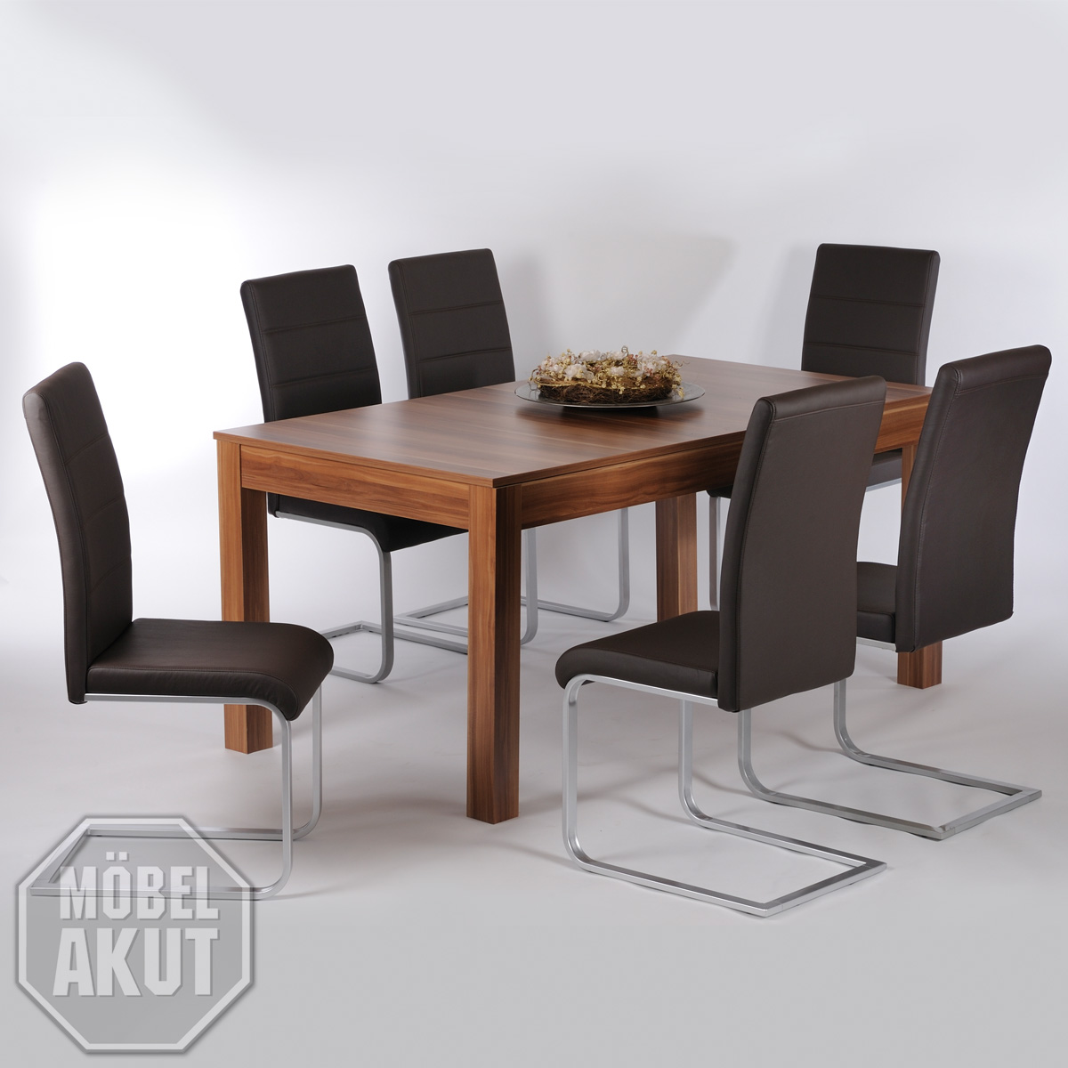 esstisch kurt esszimmer tisch ausziehbar in walnuss 160 200x90 cm ebay. Black Bedroom Furniture Sets. Home Design Ideas
