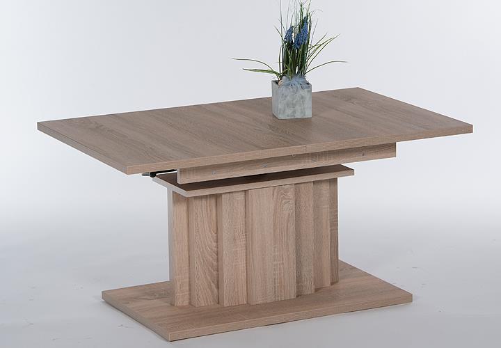 couchtisch pretoria beistelltisch ausziehbar h henverstellbar eiche s gerau 110 ebay. Black Bedroom Furniture Sets. Home Design Ideas