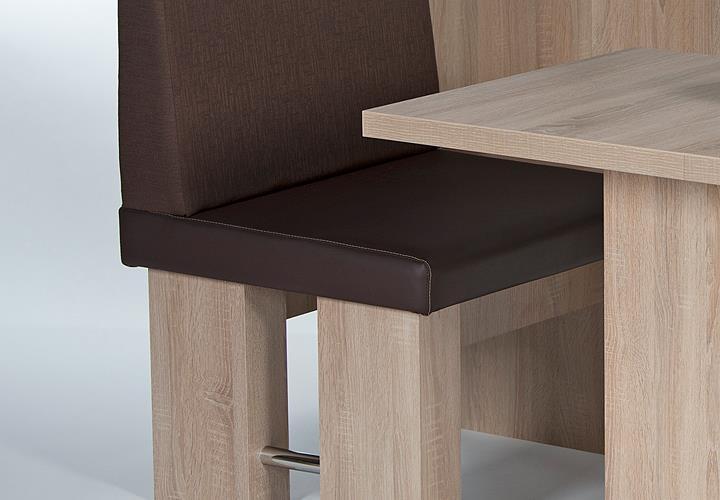 eckbank charlotta mit tisch sarah und stuhl maria in eiche s gerau und braun ebay. Black Bedroom Furniture Sets. Home Design Ideas