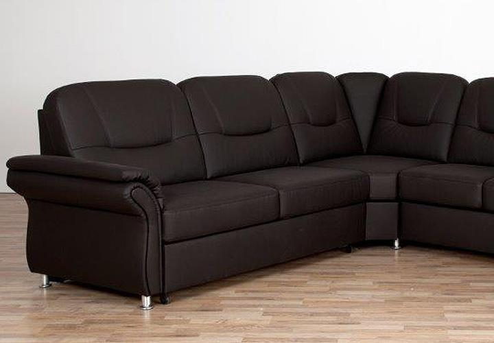 Wohnlandschaft olaf sofa ecksofa in braun mit bettfunktion for Sofa mit bettfunktion