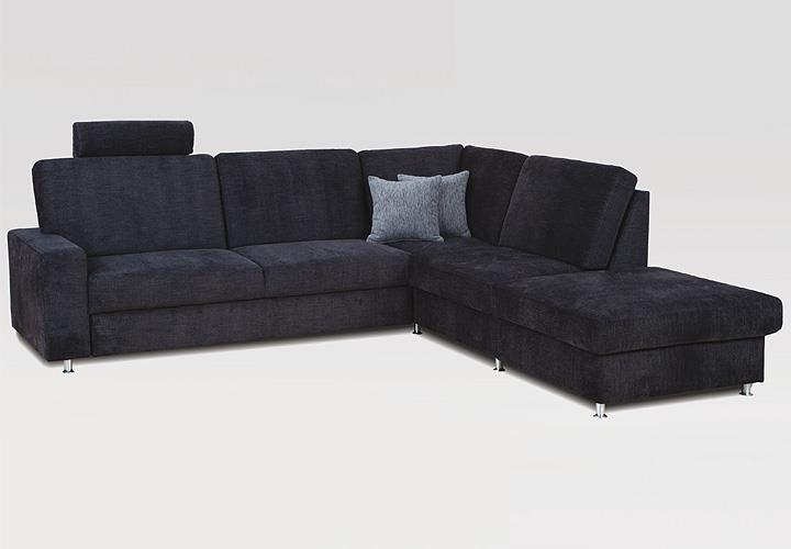 wohnlandschaft emma sofa ecksofa anthrazit mit bettfunktion und bettkasten ebay. Black Bedroom Furniture Sets. Home Design Ideas