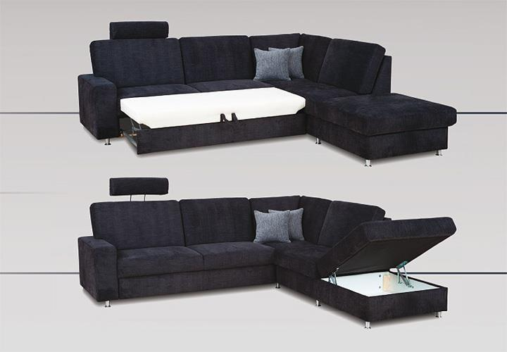 wohnlandschaft emma sofa ecksofa anthrazit mit. Black Bedroom Furniture Sets. Home Design Ideas