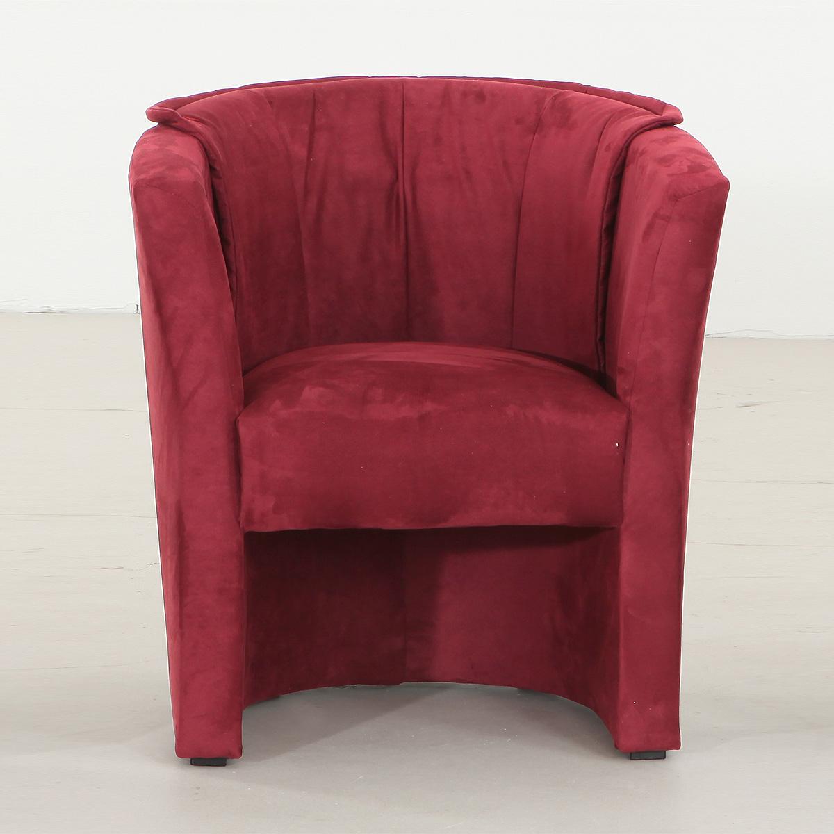 sessel lux cocktailsessel einzelsessel in rot 75 83 67 cm. Black Bedroom Furniture Sets. Home Design Ideas