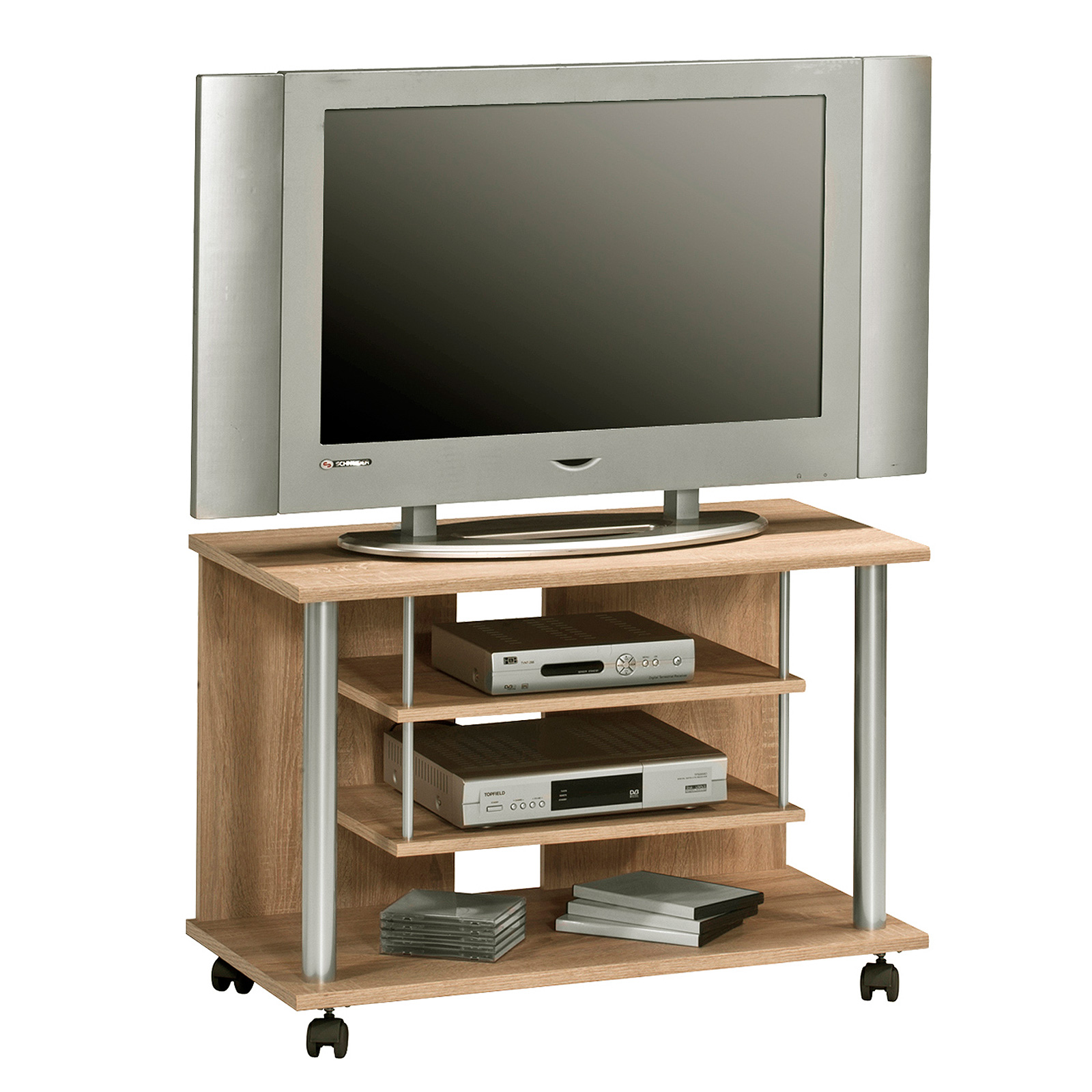 tv rack maja 1898 tv board tv schrank mediam bel als farbauswahl mit rollen ebay. Black Bedroom Furniture Sets. Home Design Ideas