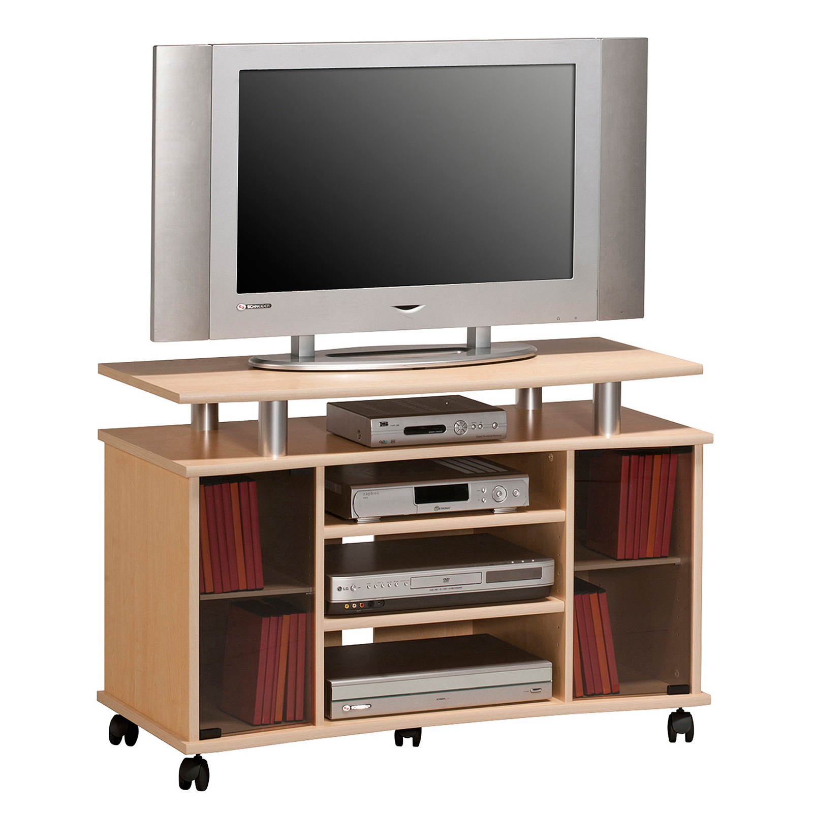 tv rack maja 7362 tv board tv schrank mediam bel als farbauswahl mit rauchglas ebay. Black Bedroom Furniture Sets. Home Design Ideas