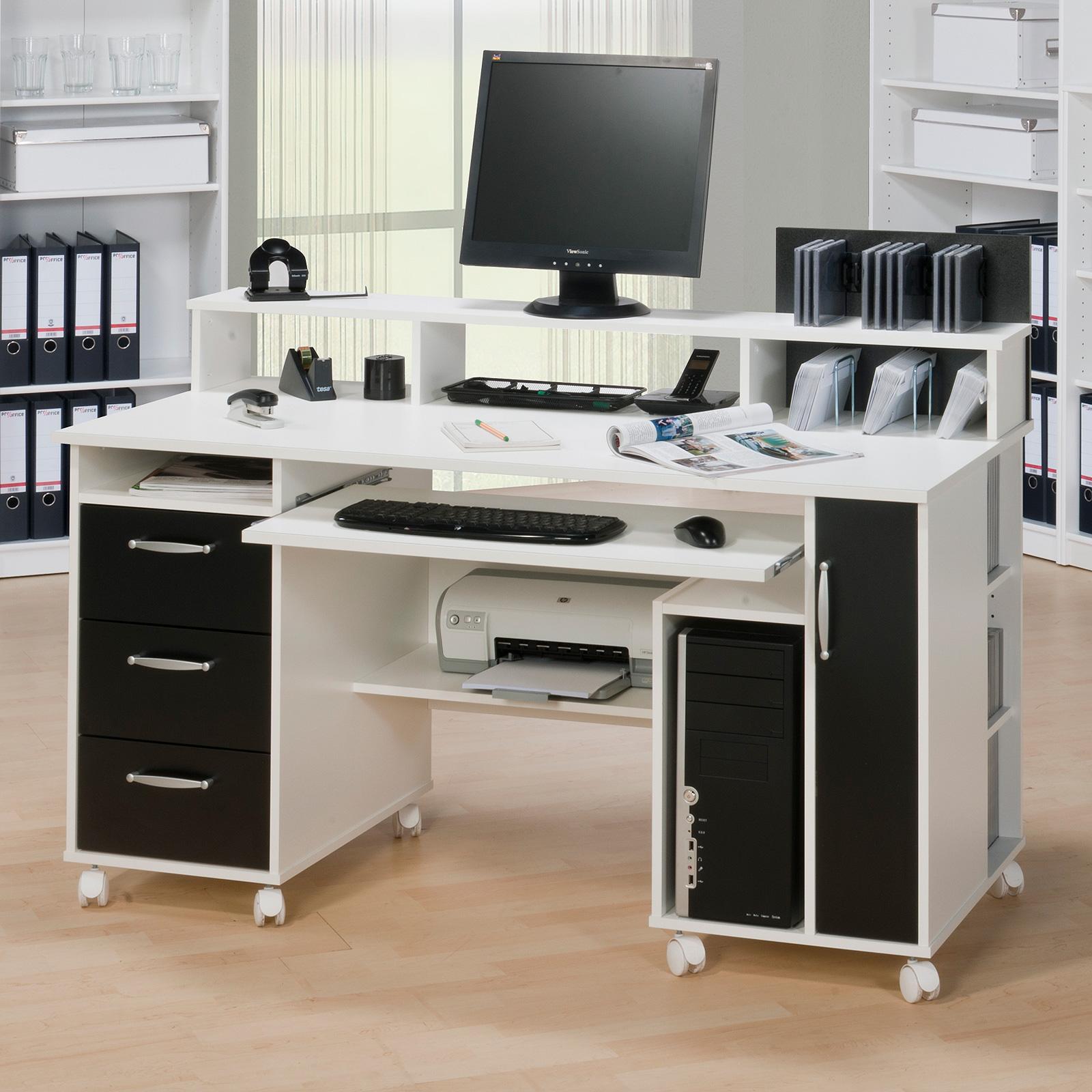 schreibtisch maja 9475 computertisch pc tisch b rotisch tisch farbauswahl ebay. Black Bedroom Furniture Sets. Home Design Ideas