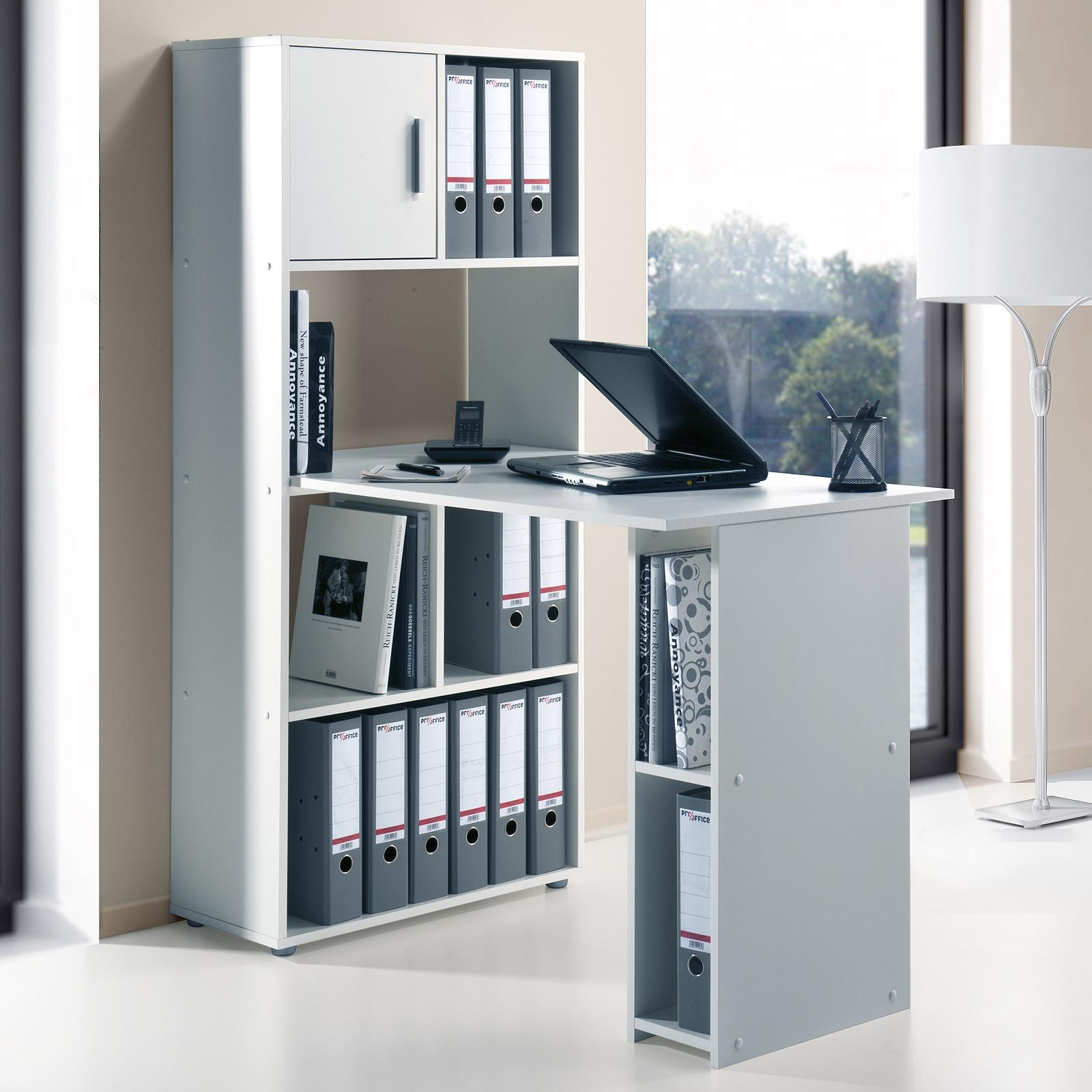 regal maja 4012 aktenregal mit pc arbeitsplatz schreibtisch farbauswahl ebay. Black Bedroom Furniture Sets. Home Design Ideas