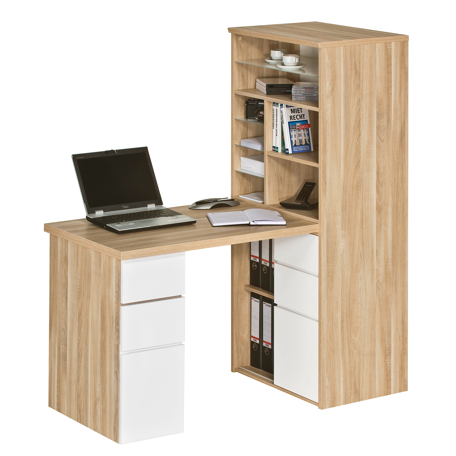mini office maja 9562 schreibtischkombi regal schreibtisch farbauswahl ebay. Black Bedroom Furniture Sets. Home Design Ideas