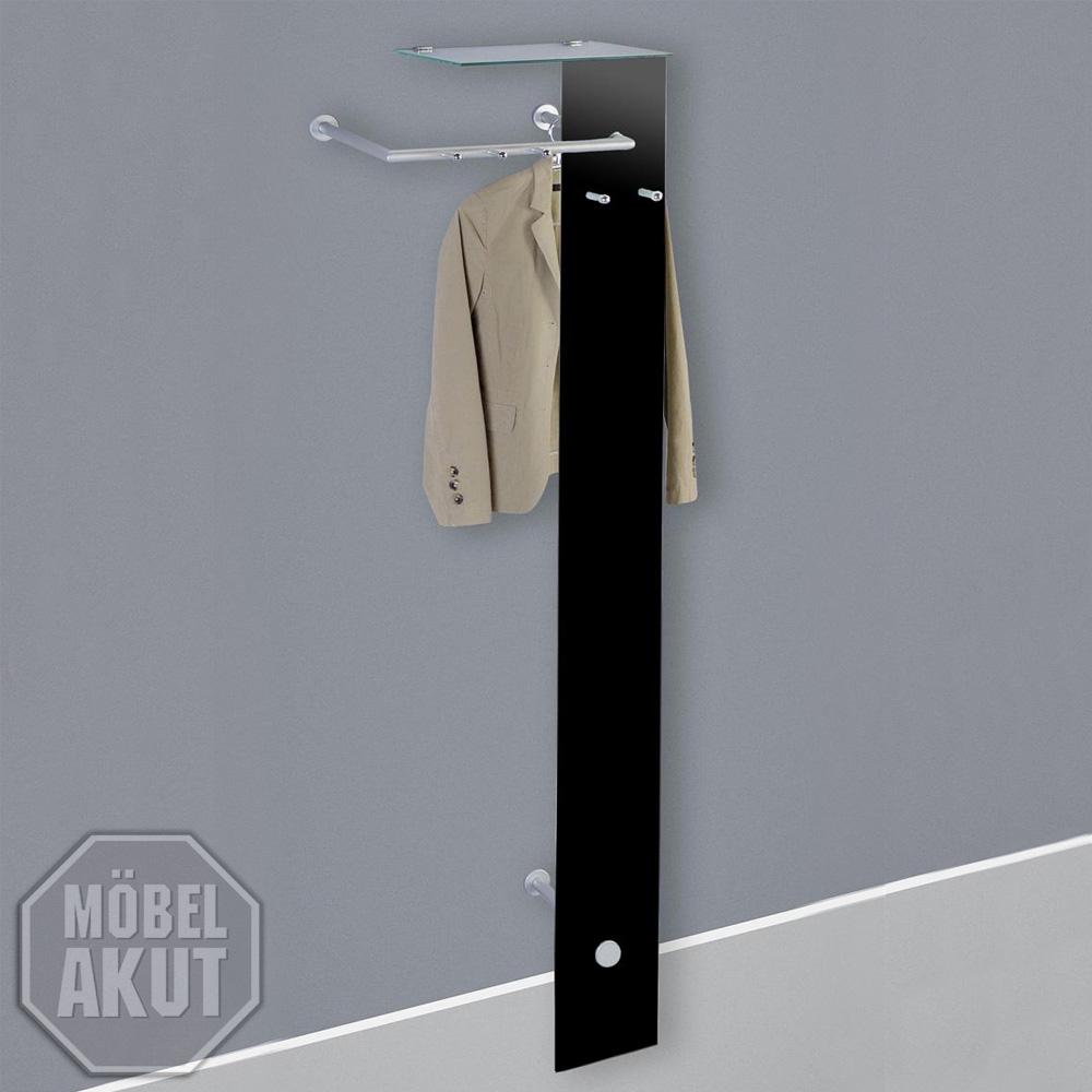 garderobe elio wandgarderobe schwarz glas perl silber ebay. Black Bedroom Furniture Sets. Home Design Ideas