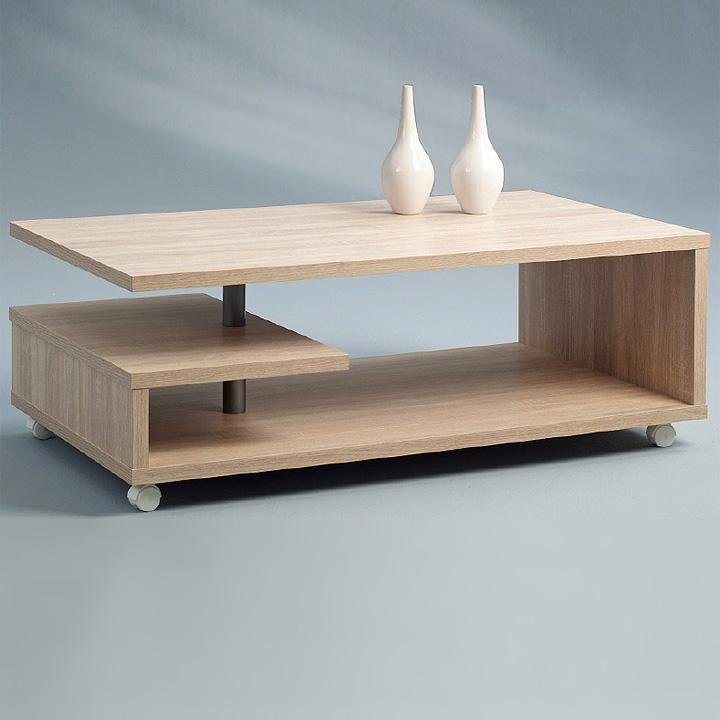 couchtisch tim tisch in sonoma eiche mit rollen neu ebay. Black Bedroom Furniture Sets. Home Design Ideas