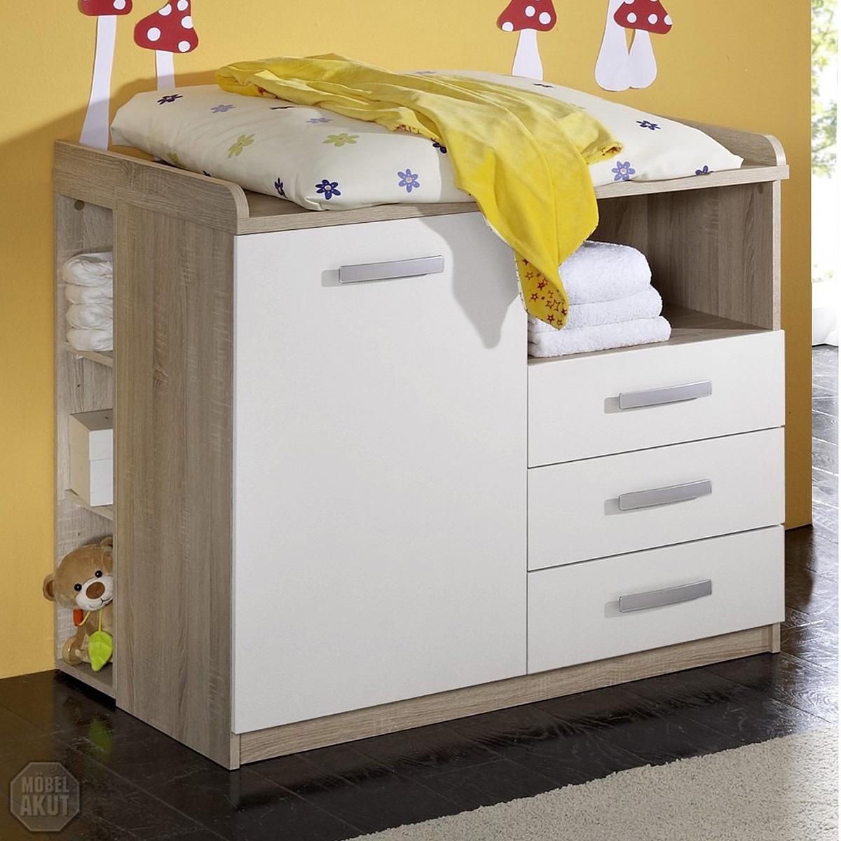wickelkommode moritz wickeltisch sonoma eiche s gerau wei. Black Bedroom Furniture Sets. Home Design Ideas