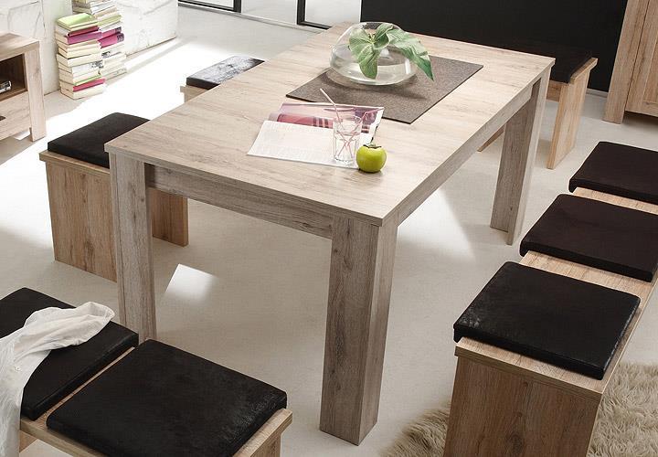 Esstisch Sandeiche Nachbildung ~ Esstisch Mambo Tisch mit Auswahl Wildeiche San Remo und Eiche sägerau