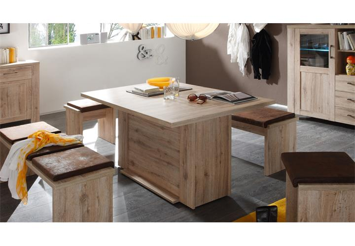 esstisch porto tisch esszimmertisch k che wildeiche eiche ausziehbar 140 300 cm ebay. Black Bedroom Furniture Sets. Home Design Ideas