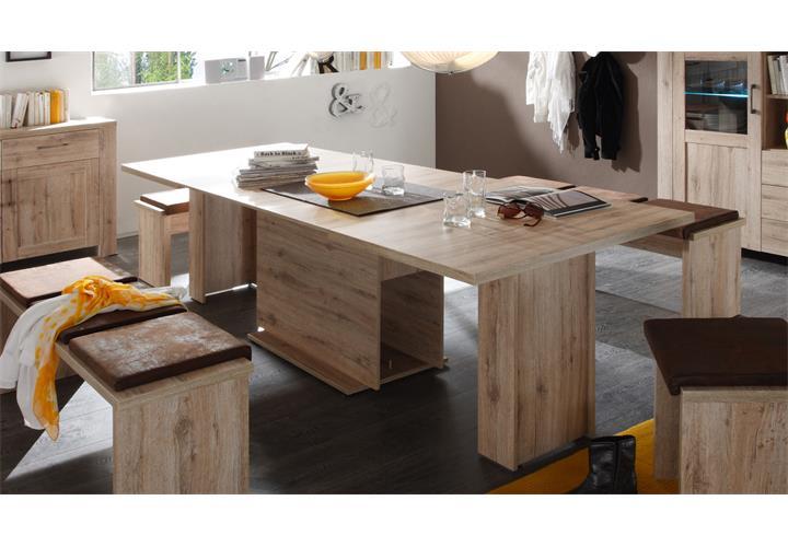 Esstisch Porto Tisch Esszimmertisch Küche Wildeiche Eiche ausziehbar ...