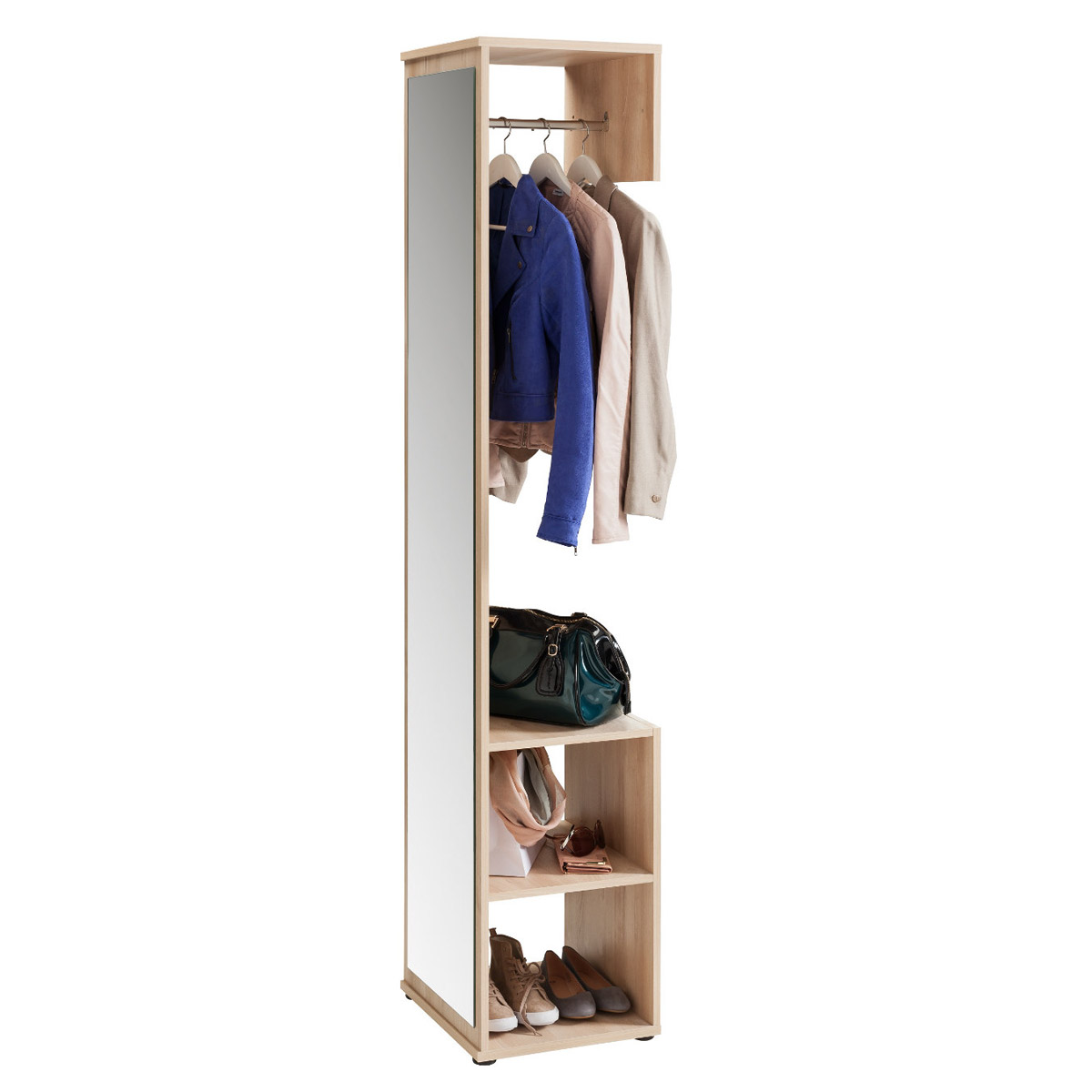 garderobe alfred garderobenschrank mit spiegel in edelbuche ebay. Black Bedroom Furniture Sets. Home Design Ideas