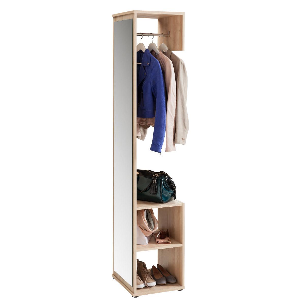 Garderobe alfred garderobenschrank mit spiegel in edelbuche ebay - Garderobenschrank mit spiegel ...