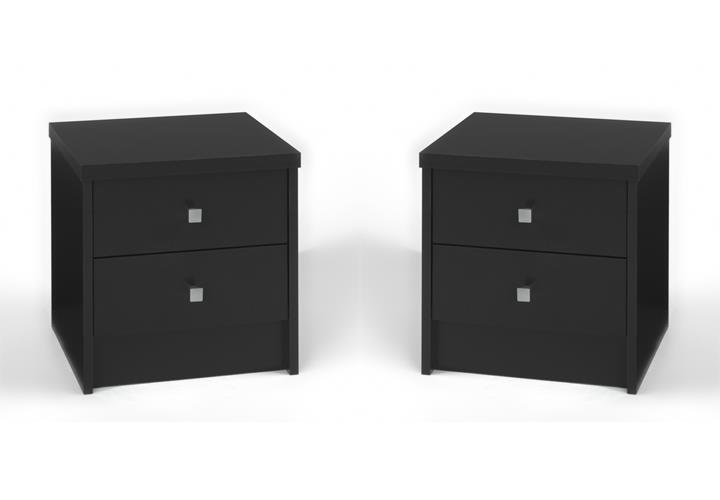 nachtkommode one nachttisch nachtkonsole 2er set in schwarz dekor eur 45 90 picclick de. Black Bedroom Furniture Sets. Home Design Ideas