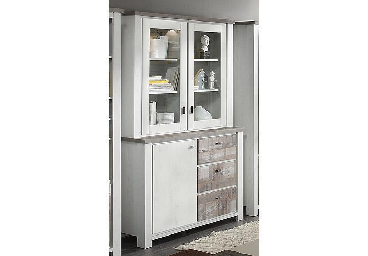 buffet granny vitrine schrank esszimmer eiche gewei t und eiche vintage ebay. Black Bedroom Furniture Sets. Home Design Ideas
