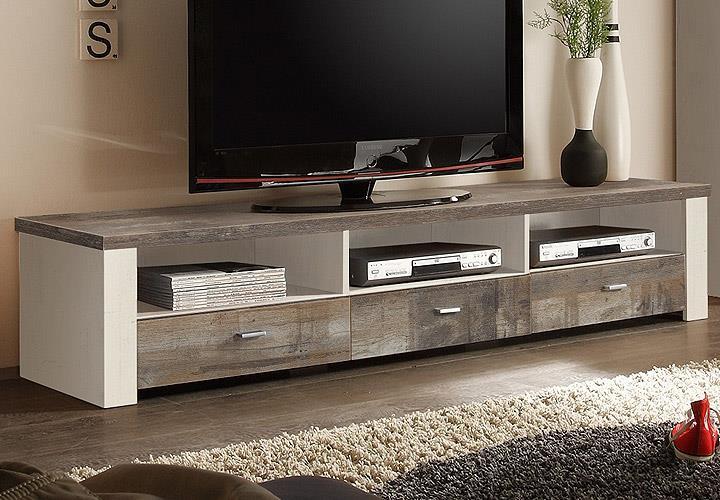 lowboard mad tv board fernsehkommode in eiche gewei t eiche vintage ebay. Black Bedroom Furniture Sets. Home Design Ideas