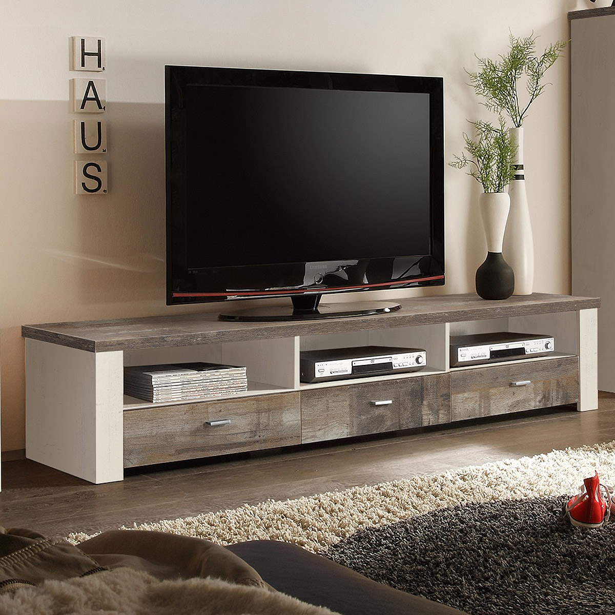lowboard mad tv board fernsehkommode in eiche gewei t. Black Bedroom Furniture Sets. Home Design Ideas