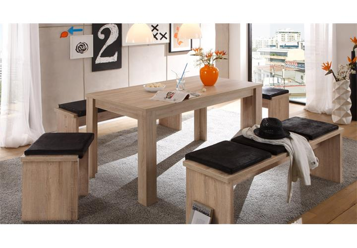 esstisch pit bull eiche s gerau k chentisch esszimmer tisch ausziehbar 80 160 ebay. Black Bedroom Furniture Sets. Home Design Ideas