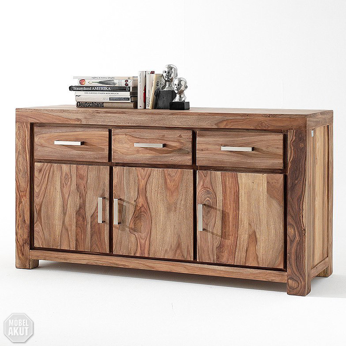 Sideboard maja kommode massivholz sheesham natur ebay for Sideboard kommode