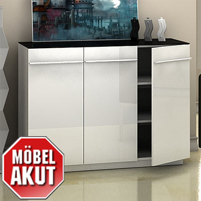 sideboard neo kommode wei hochglanz neu. Black Bedroom Furniture Sets. Home Design Ideas