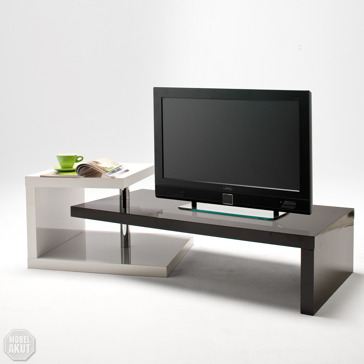 lowboard casale tv board media m bel in schwarz wei hochglanz neu ebay. Black Bedroom Furniture Sets. Home Design Ideas