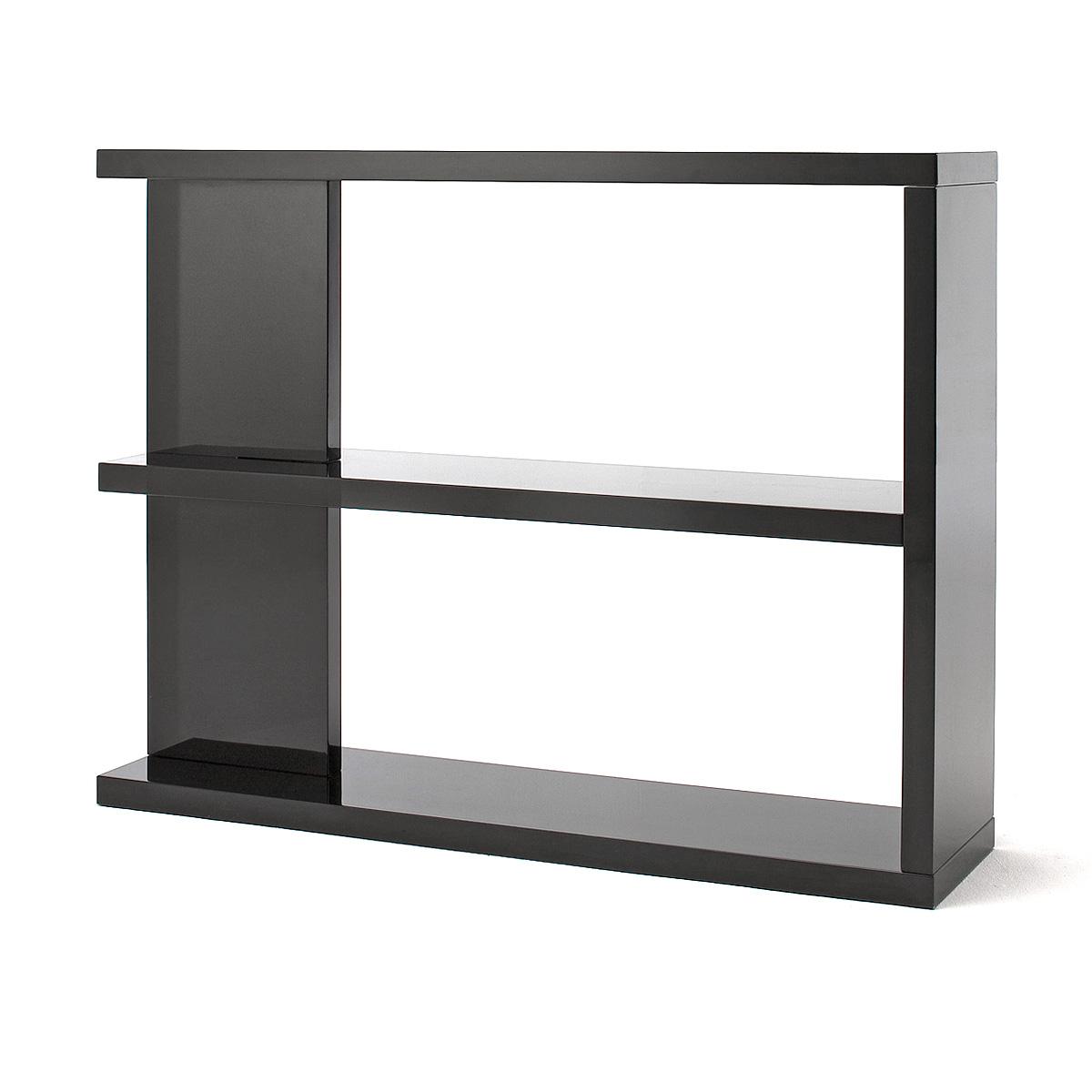 raumteiler tunis b cherregal regal in hochglanz schwarz ebay. Black Bedroom Furniture Sets. Home Design Ideas