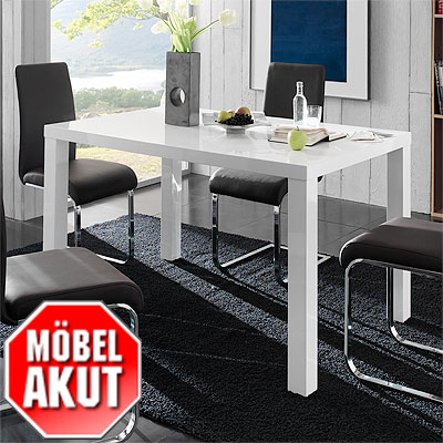 esstisch sonic tisch wei hochglanz lackiert 120 cm eur 139 00 picclick de. Black Bedroom Furniture Sets. Home Design Ideas