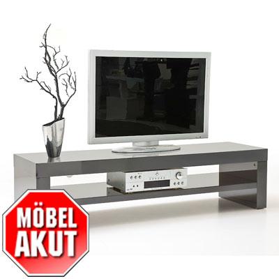 tv board giro lowboard in grau hochglanz b 160 ebay. Black Bedroom Furniture Sets. Home Design Ideas