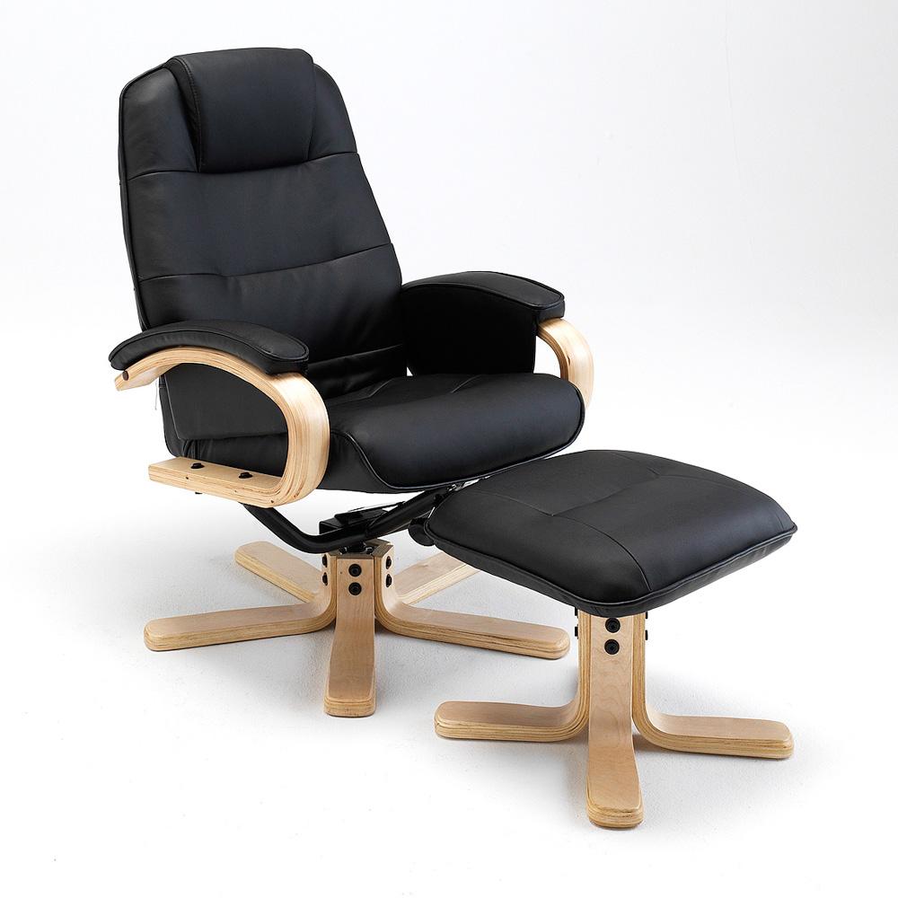 Relaxsessel mit hocker sane sessel und hocker schwarz neu for Sessel und hocker