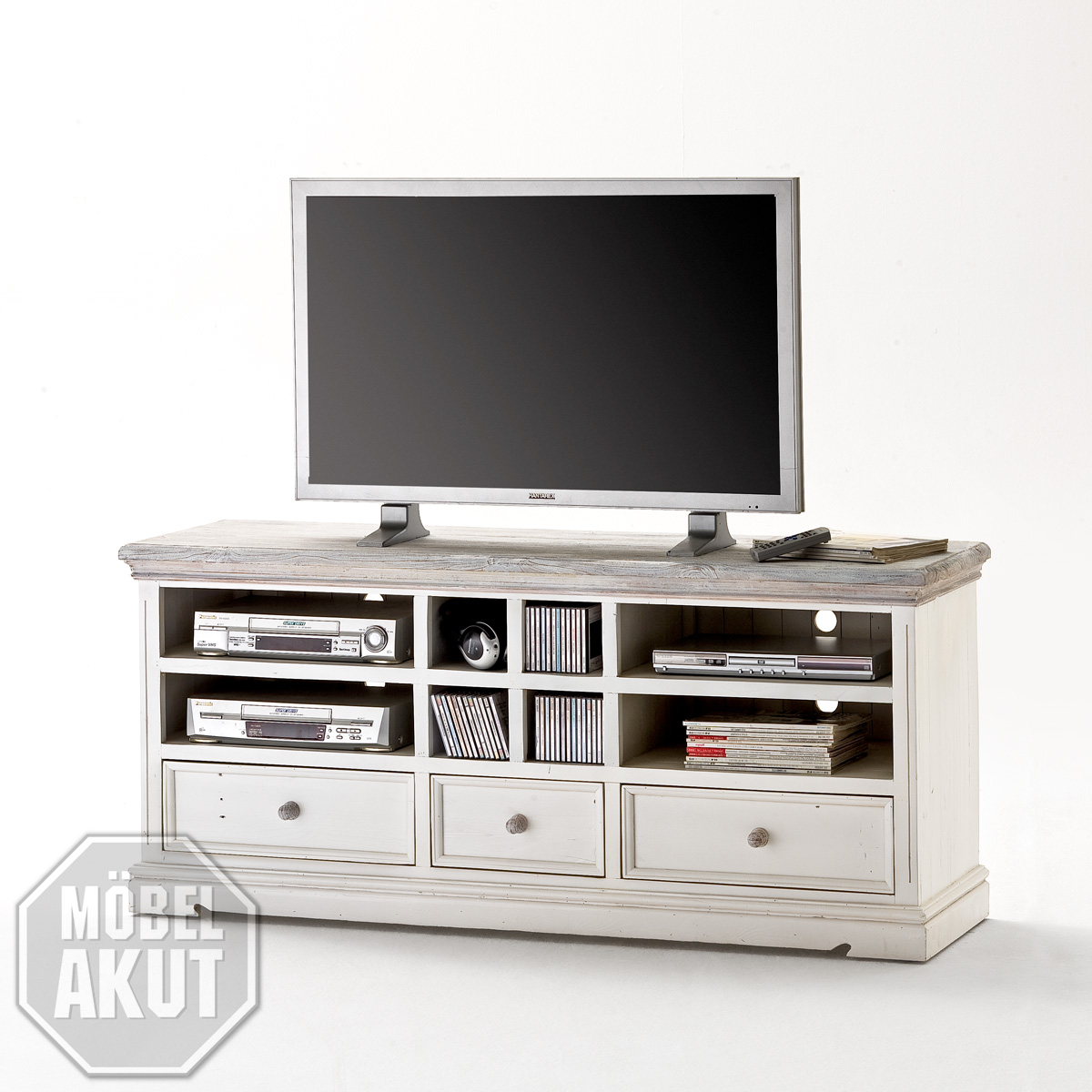 tv unterteil opera in kiefer massiv wei lowboard ebay. Black Bedroom Furniture Sets. Home Design Ideas