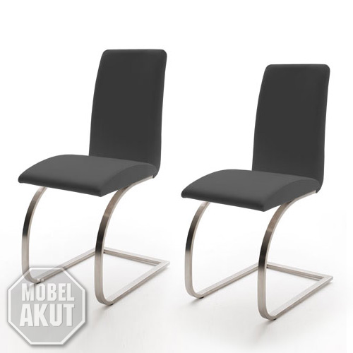 schwingstuhl karmo 6er set freischwinger in grau ebay. Black Bedroom Furniture Sets. Home Design Ideas