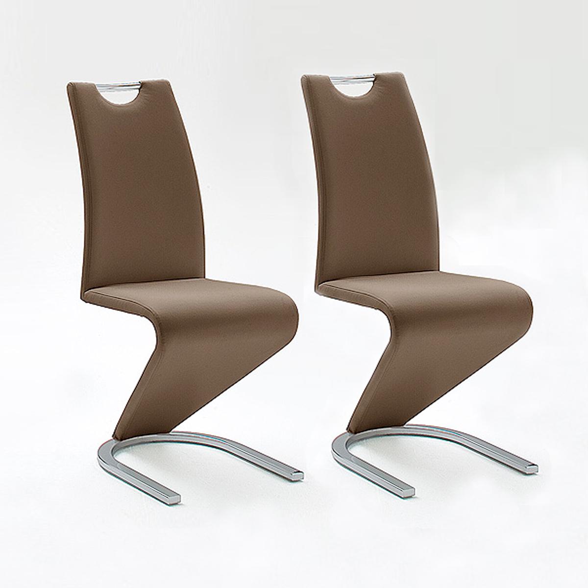 Schwingstuhl amado 2er set freischwinger esszimmer stuhl for Schwingstuhl cappuccino