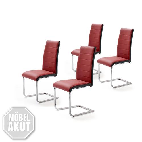 4er set schwingstuhl 2color freischwinger stuhl st hle in rot schwarz neu ebay. Black Bedroom Furniture Sets. Home Design Ideas