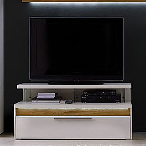 tv aufsatz viola regal wei matt lackiert glas neu. Black Bedroom Furniture Sets. Home Design Ideas