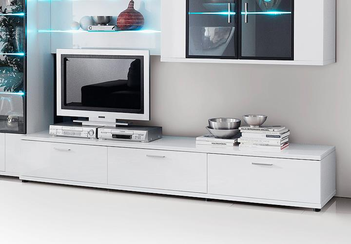 lowboard corano tv board wohnzimmer media m bel in hochglanz wei ebay. Black Bedroom Furniture Sets. Home Design Ideas