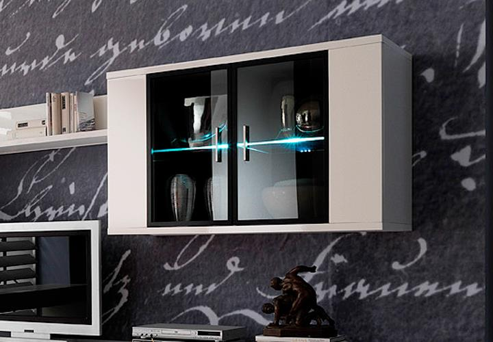 h ngeschrank corano wohnzimmer h ngevitrine in hochglanz wei ebay. Black Bedroom Furniture Sets. Home Design Ideas
