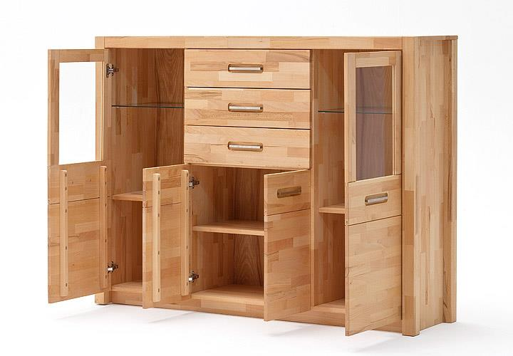 highboard fenja sideboard kernbuche keilverzinkt massiv. Black Bedroom Furniture Sets. Home Design Ideas