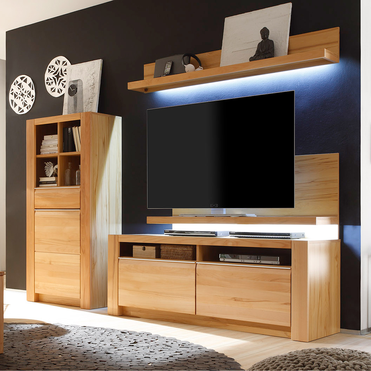 wohnwand vanille home design und m bel interieur inspiration. Black Bedroom Furniture Sets. Home Design Ideas