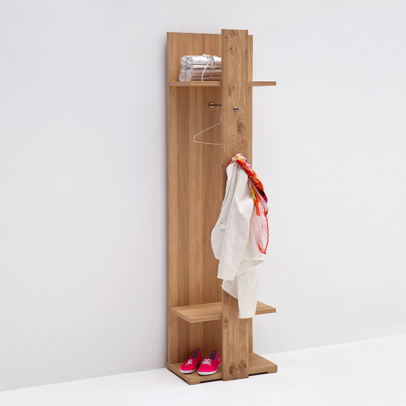 garderobenpaneel espero garderobe paneel in ast eiche bianco teilmassiv ge lt ebay. Black Bedroom Furniture Sets. Home Design Ideas