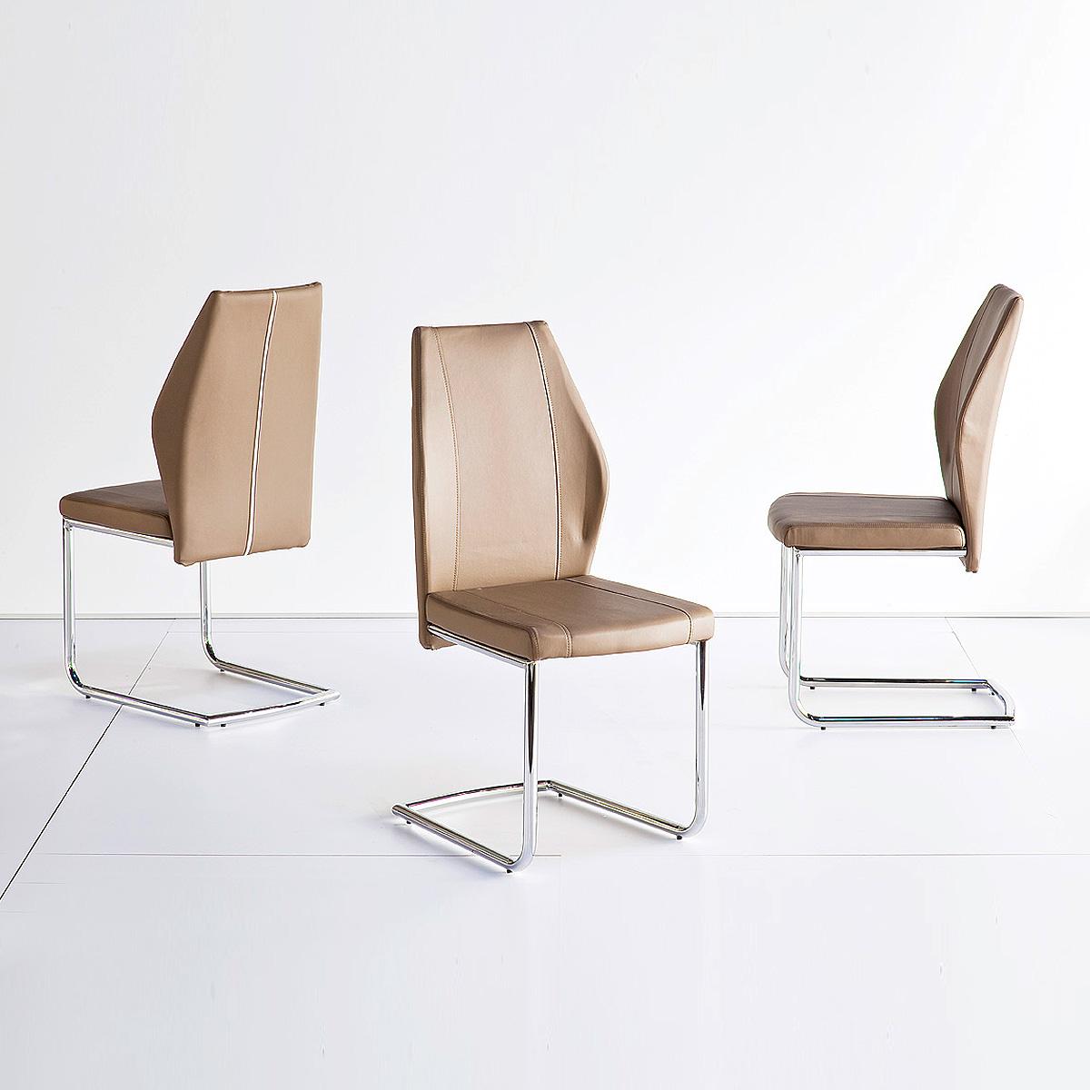 schwingstuhl 4er set karo stuhl esszimmerstuhl in. Black Bedroom Furniture Sets. Home Design Ideas